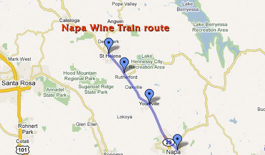 Aboard The Napa Valley Wine Train FBWorldcom - Napa valley vineyard map