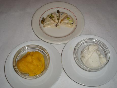 Desserts for Ajanta indian cuisine