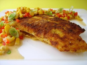 Southern-Cornmeal Crusted Catfish With Crunchy Corn Relish