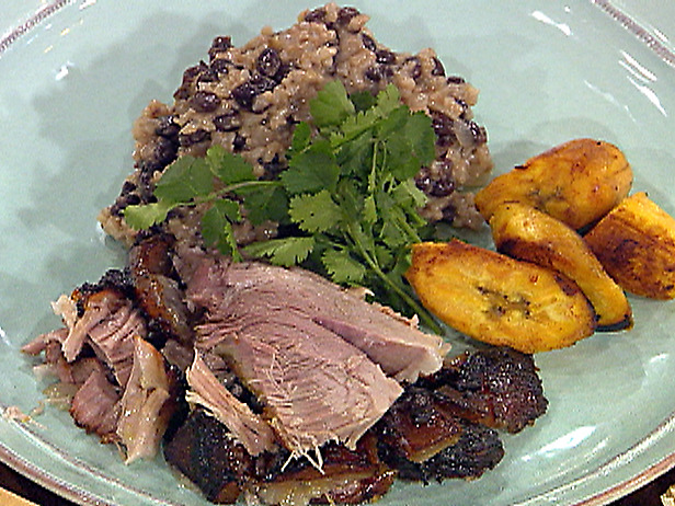 Puerto Rican-Style Roasted Pork Shoulder with Rice and Black Beans and ...
