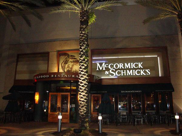 Mccormick Restaurant Special Menu