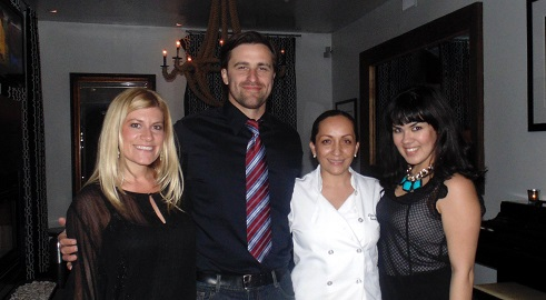 Executive Chef Diana Hernandez (2nd from right) with Crescent Staff