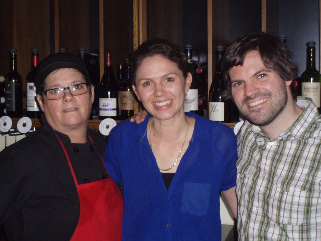 Traci Hurlow, Proprietor/Sommelier Carolyn Johnson and Esteban Brunello