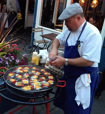 Chef Miller Making Paella