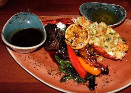 Filet of Beef & Stuffed Lobster Entree