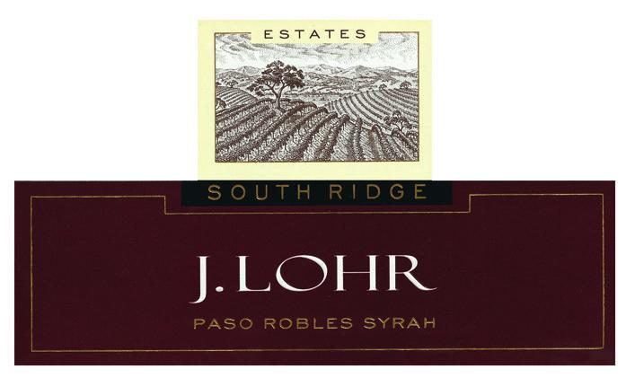 NV J. Lohr Estates South Ridge Syrah Label