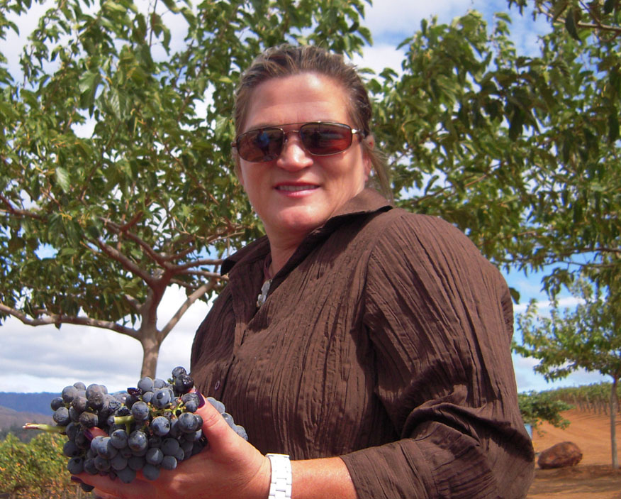 MARNI HOLDING GRAPES READY TO BE HARVESTED
