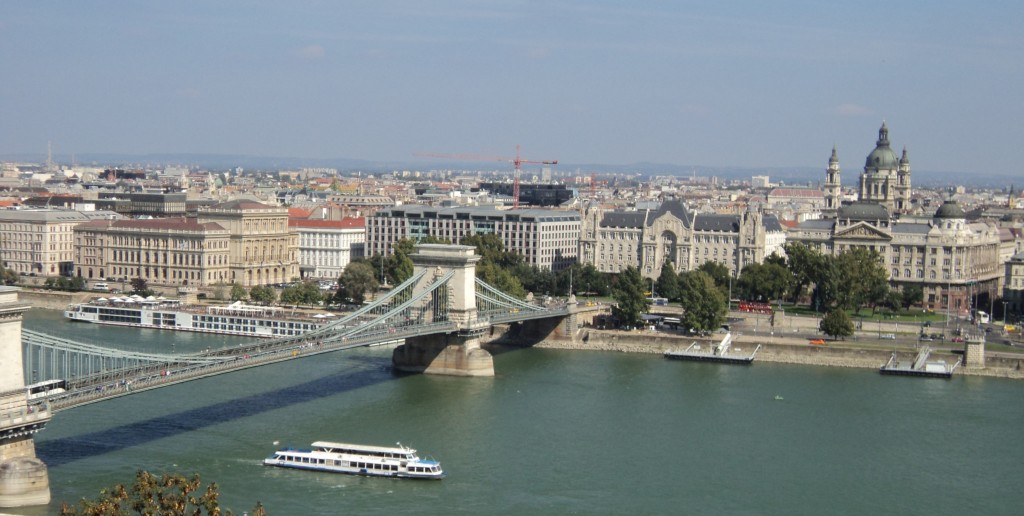 Danube River View from Buda Castle