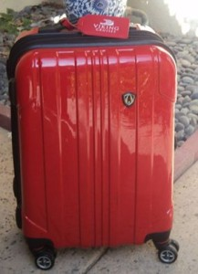 Small Suitcase with Cruise Ship Tags