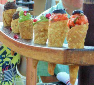Tuna Tartar Cones at Mateo's Cocina Latina