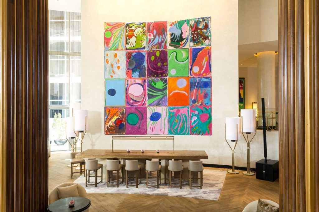 Florida Set by Artist Josh Smith to Hang in the Nobu Lobby Lounge