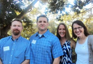 Speaker Ian Bond with SBRM Staff L.B. Chandler, Rebecca Weber and Jill Dixon